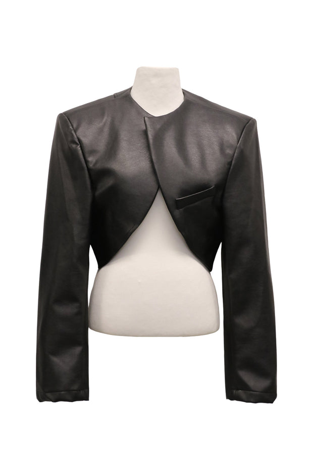 storets.com Nadia Supper Cropped Pleather Jacket