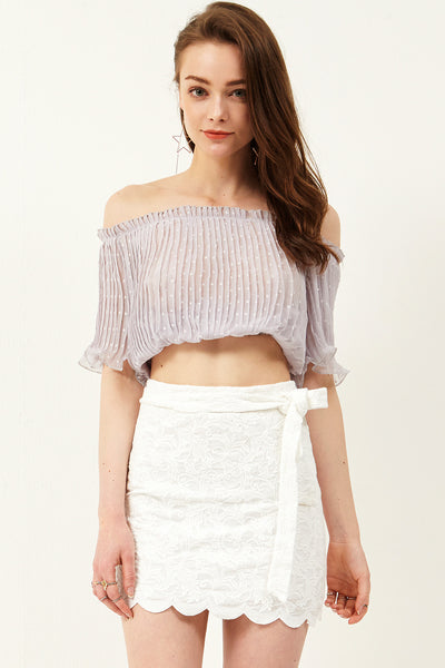 Laiya Bow Tie Lace Skirt
