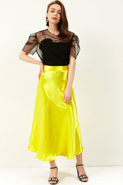storets.com Dolly Satin Maxi Skirt