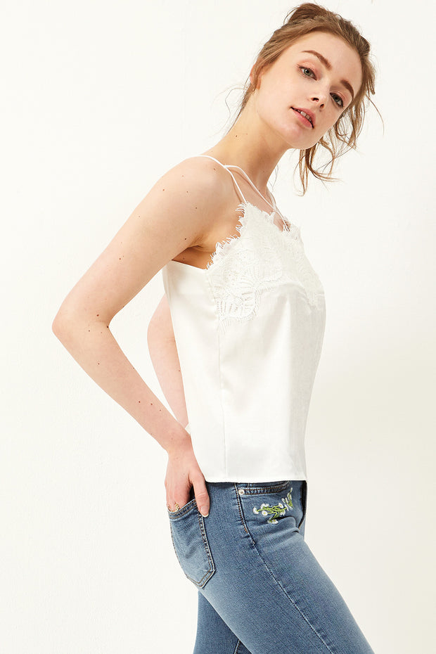 Velly Lace Strappy Top