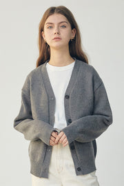 [ANEDIT] D Knit Cardigan_GY