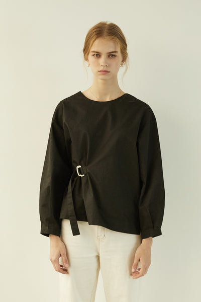 [ANEDIT] P Belted Blouse_BK