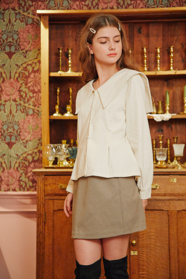 [LETTER FROM MOON] Sailor Big Collar Blouse in Cream