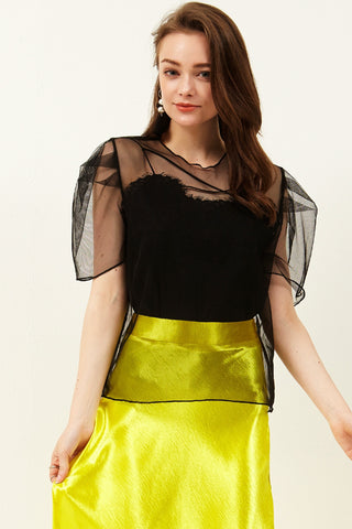 Rea Mesh Balloon Top