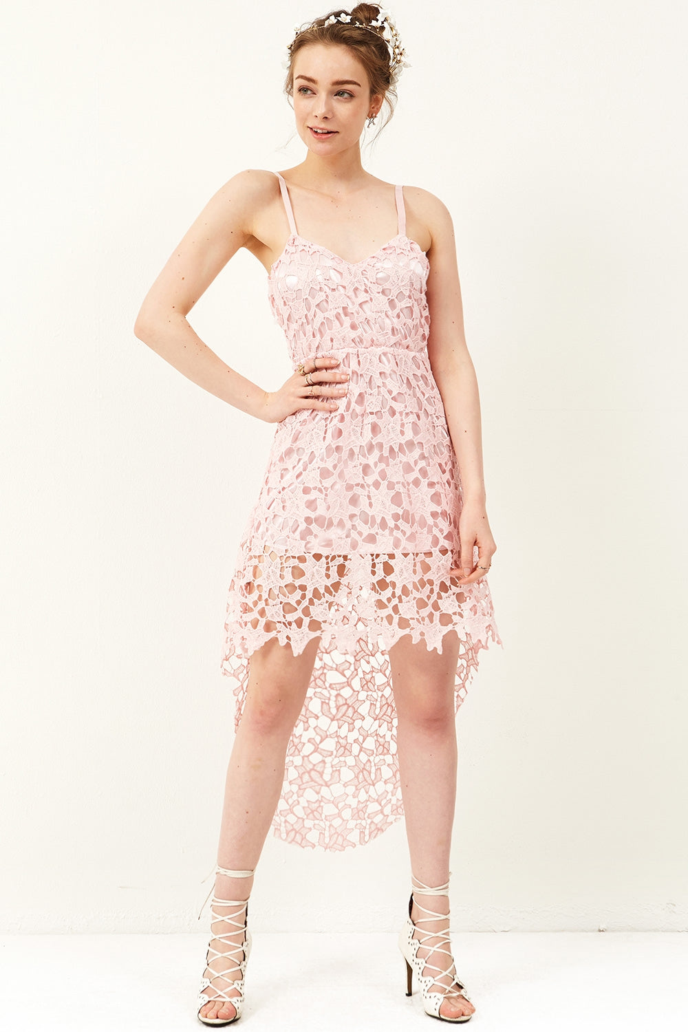 Rosi Lace Sleeveless Dress