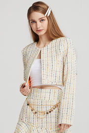 Emma Tweed Cropped Jacket