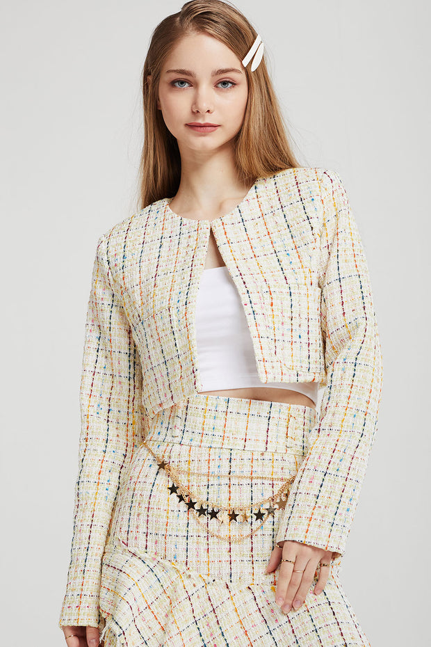 storets.com Emma Tweed Cropped Jacket