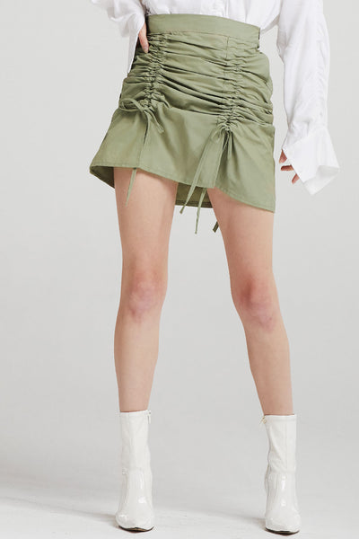 Charlie Drawstring Ruched Skirt