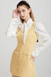 Claire Tweed Pinafore Dress