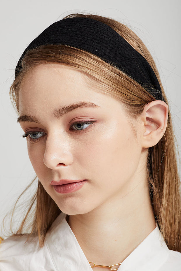 Wide Rib-Knit Headband