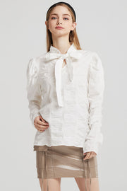 Eden Structured Tie Blouse