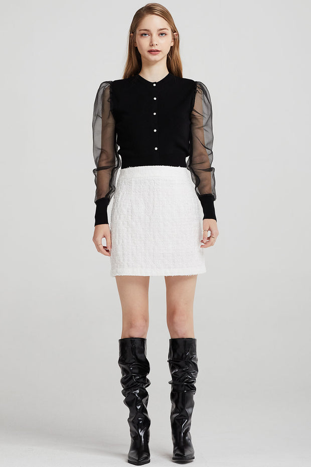Eleanor A-Line Tweed Skirt