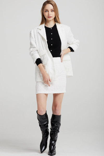 Eleanor Oversized Tweed Jacket