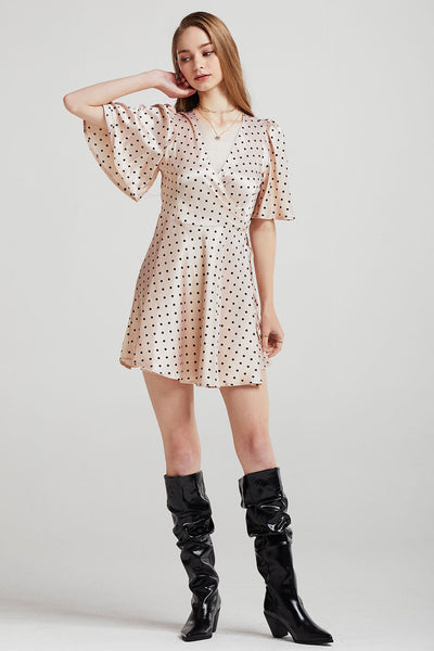Olivia Polka Dot Satin Dress