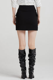 storets.com Olivia Diagonal Button Skirt