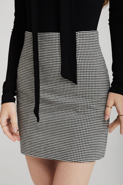Vanessa Houndstooth Mini Skirt