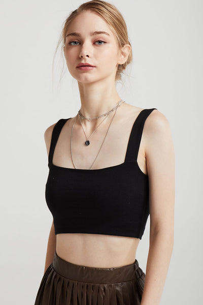 Elle Square Neck Crop Tank