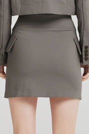 Olivia Diagonal Button Skirt