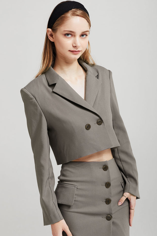Olivia Cropped Suit Jacket