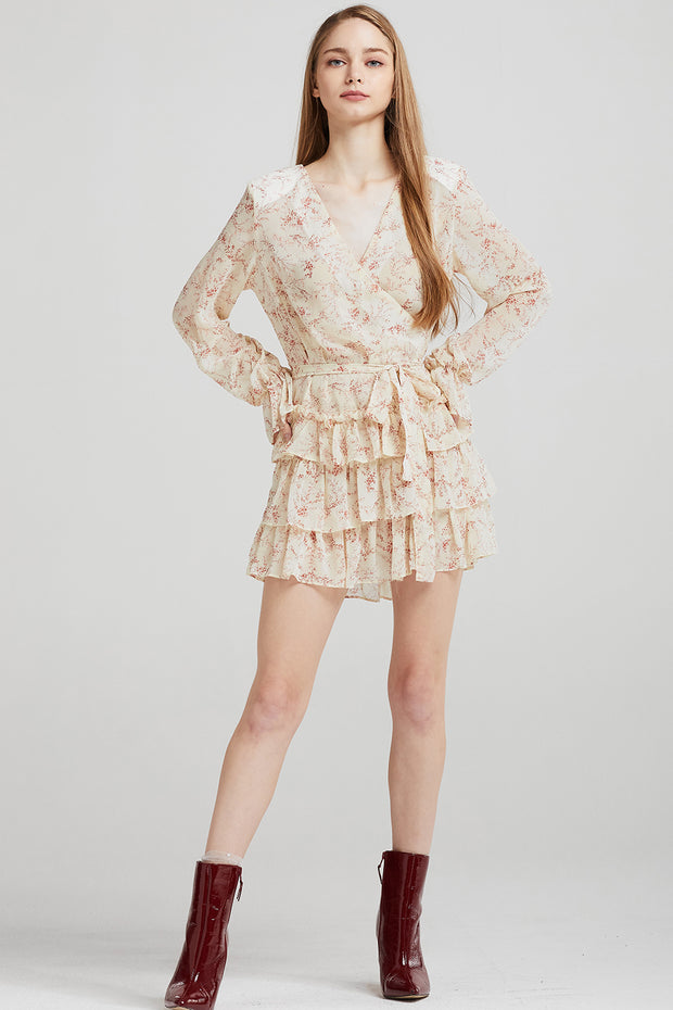 storets.com Sophie Floral Tiered Ruffle Dress