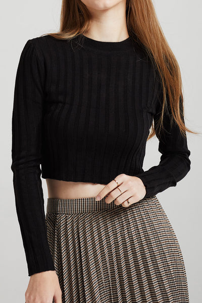 Demi Rib-Knit Crop Top