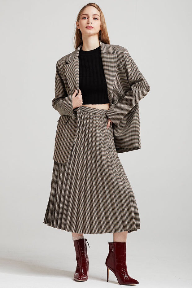 Zoe Oversized Checked Jacket