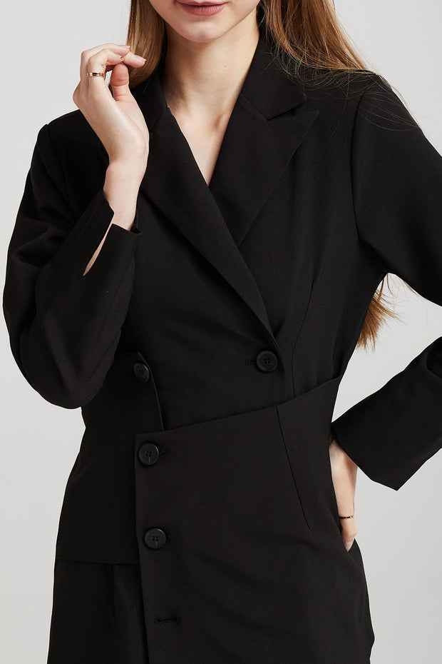 Emery Asymmetric Hem Blazer Dress