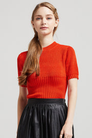 Anna Puff Sleeve Knit Crop Top
