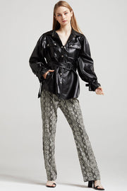 storets.com Abigail Oversized Pleather Shirt Jacket