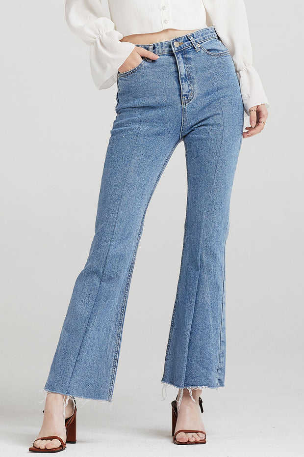 Adelyn Bootcut Jeans w/Front Seam