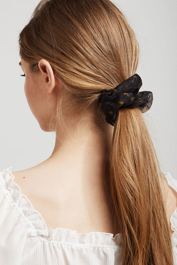 Sheer Leopard Scrunchies