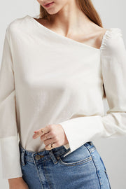 storets.com Kate Asymmetric Neck Blouse