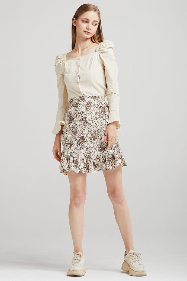 Esther Ruffle Wrap Skirt