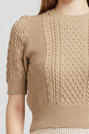 Maria Cable-Knit Crop Top