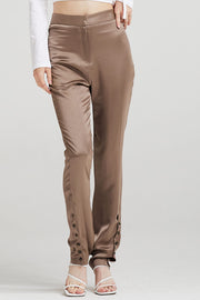 storets.com Vivienne Button-Ankle Satin Pants