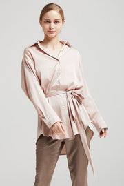 Bailey Satin Shirt Dress