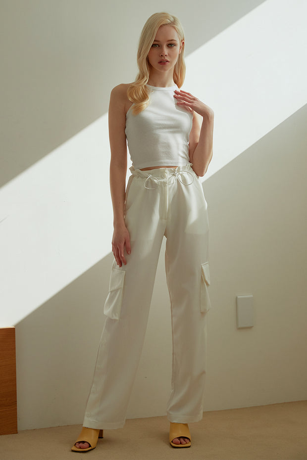 Tenley Button Slit Cargo Pants