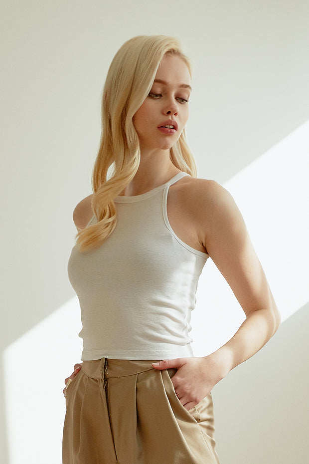 Bridget Cropped Halter Top
