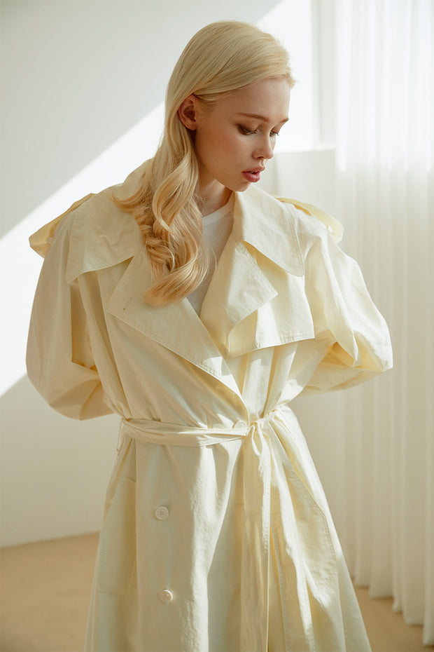 Joyce Flared Long Trench Coat