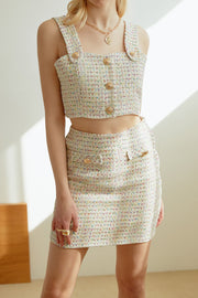 Evelyn Tweed Crop Top
