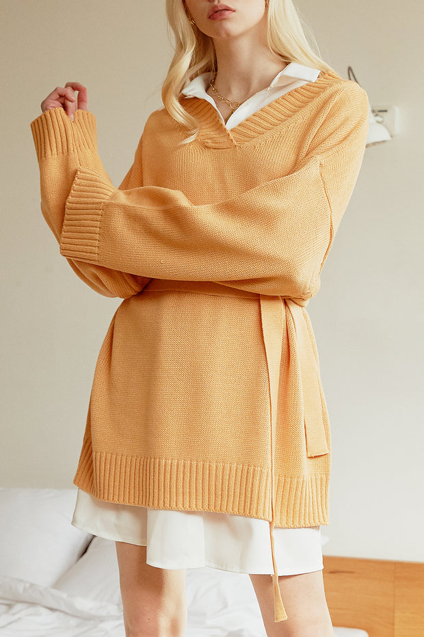 Melany Sweater Dress w/Belt