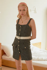 Lily Tweed Pinafore Dress