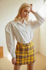Nataly Multi Plaid Skirt