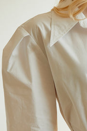 Lea Structured Puff Sleeve Shirt