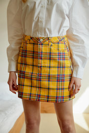 storets.com Nataly Multi Plaid Skirt