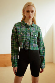storets.com Mao Cropped Plaid Jacket
