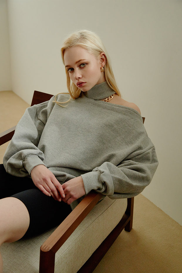 storets.com Arden Choker Sweat Top