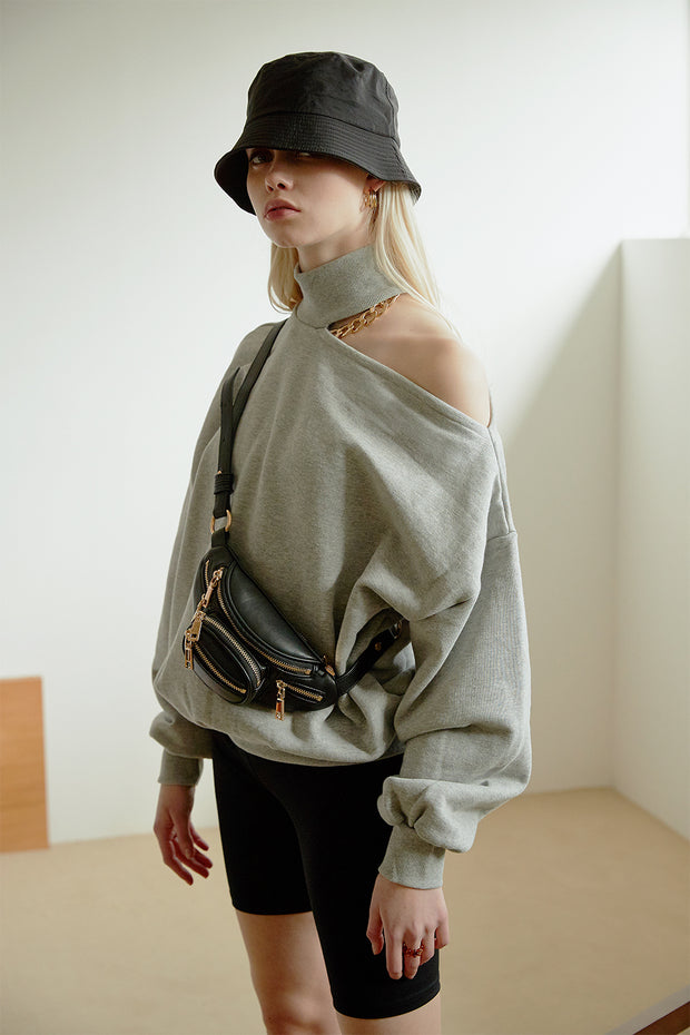 Arden Choker Sweat Top