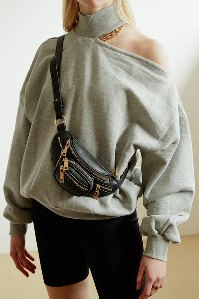 Fanny Pack w/Zipper & Chain