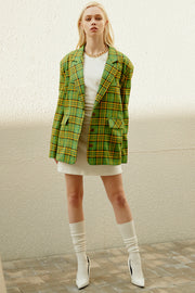 Christine Oversized Plaid Blazer